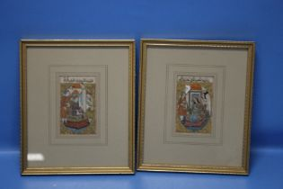 TWO FRAMED AND GLAZED RELIGIOUS INTEREST PRINTS