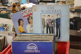 """ABOUT 65 LP RECORDS AND 12"""" SINGLES MAINLY 60S, 70S, 80S TO INCLUDE BEATLES SGT. PEPPER, BARRY"""
