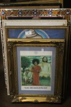 A QUANTITY OF ASSORTED PICTURES AND PRINTS OF RELIGIOUS INTEREST