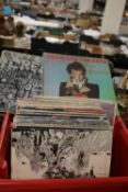"""APPROX. 50 LP RECORDS AND 12"""" SINGLES TO INCLUDE BEATLES - SGT. PEPPER, REVOLVER, BEATLES FOR"""
