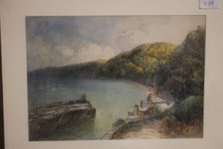 A FRAMED WATERCOLOUR, WRITING ON THE BACK CLAIMS IT TO BE A. W. PHILLIPS LATE 19TH CENTURY
