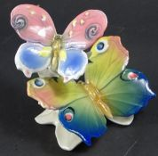 Schmetterlingspaar, ENS, Pressmarke 6944, H. und B. ca. 9 cm