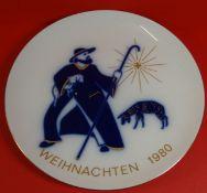 """Weihnachtsteller 1980 """"KPM"""" Berlin, D-24,5 cm"""