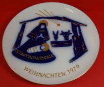"Weihnachtsteller 1979 ""KPM"" Berlin, 24,5 cm"
