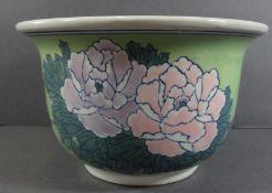 Blumenübertopf, China, handbemalt, H-12 cm, D-20 cm