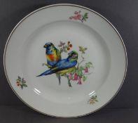"""gr. Wandteller """"Kaiser"""" mit Vogelpaar, D-32 cm"""