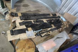 Large Cast Gate Hinges (3 of) & Clasp (1 of)