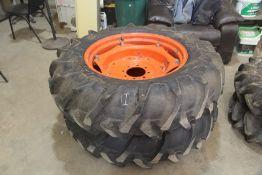 Unused Kubota Tractor Wheels & Tyres (13.6-28) (1 Pair)