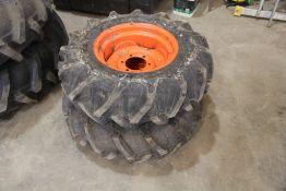 Unused Kubota Tractor Wheels & Tyres (9.5-16) (1 Pair)