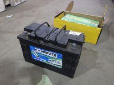 Powerlite 12v Leisure Battery & Edecor 3000W Power Inverter