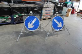 Large Lightweight Collapsable / Folding Directional Signs