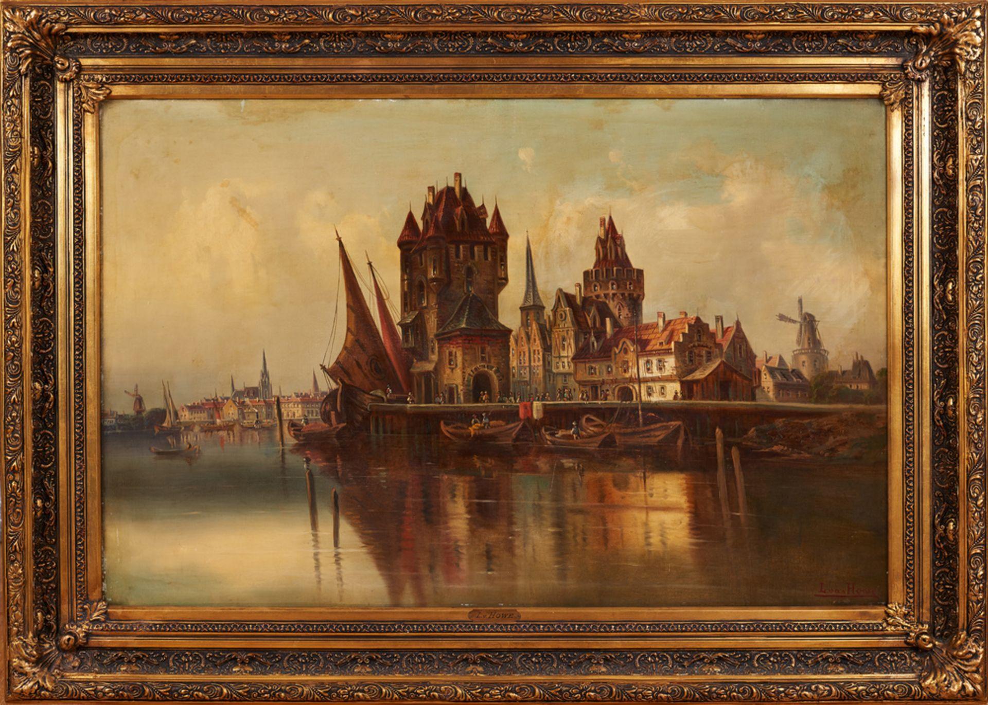 Karl Kaufmann , Neuplachowitz 1843-1905 Vienna alias: L. van Howe , In the Dutch port / W holendersk