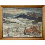 Stefan Filipkiewicz , Tarnów 1879-1944 Mauthausen-Gusen , Winter landscape from the Tatra Mountains