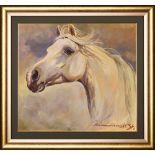 Stanisław Chomiczewski , Sławatycze 1949 , Horse head /Głowa konia, 1970.