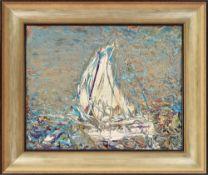 Grzegorz Ratajczyk , Krotoszyn 1960 , A white sail to the blue / Białym żaglem do błękitu, 2017