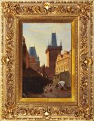 Indefinite author /  Autor nieokreślony ,  , Charles Cridge with the bridge tower / Most Karola z wi