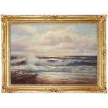 Johannes Harders , Kellenhusen 1871-1950 Hamburg , Seascape / Pejzaż morski
