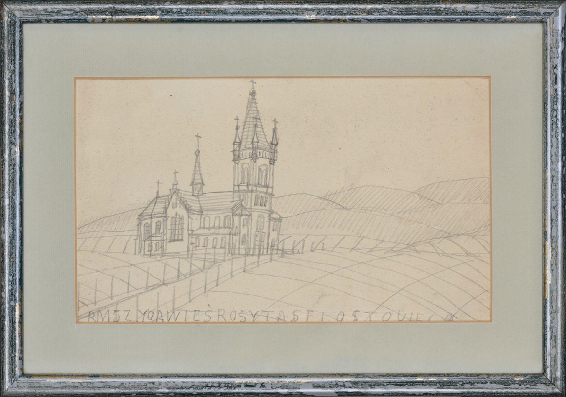 Nikifor Krynicki , 1895-1968 , Church in the mountains / Kościół w górach