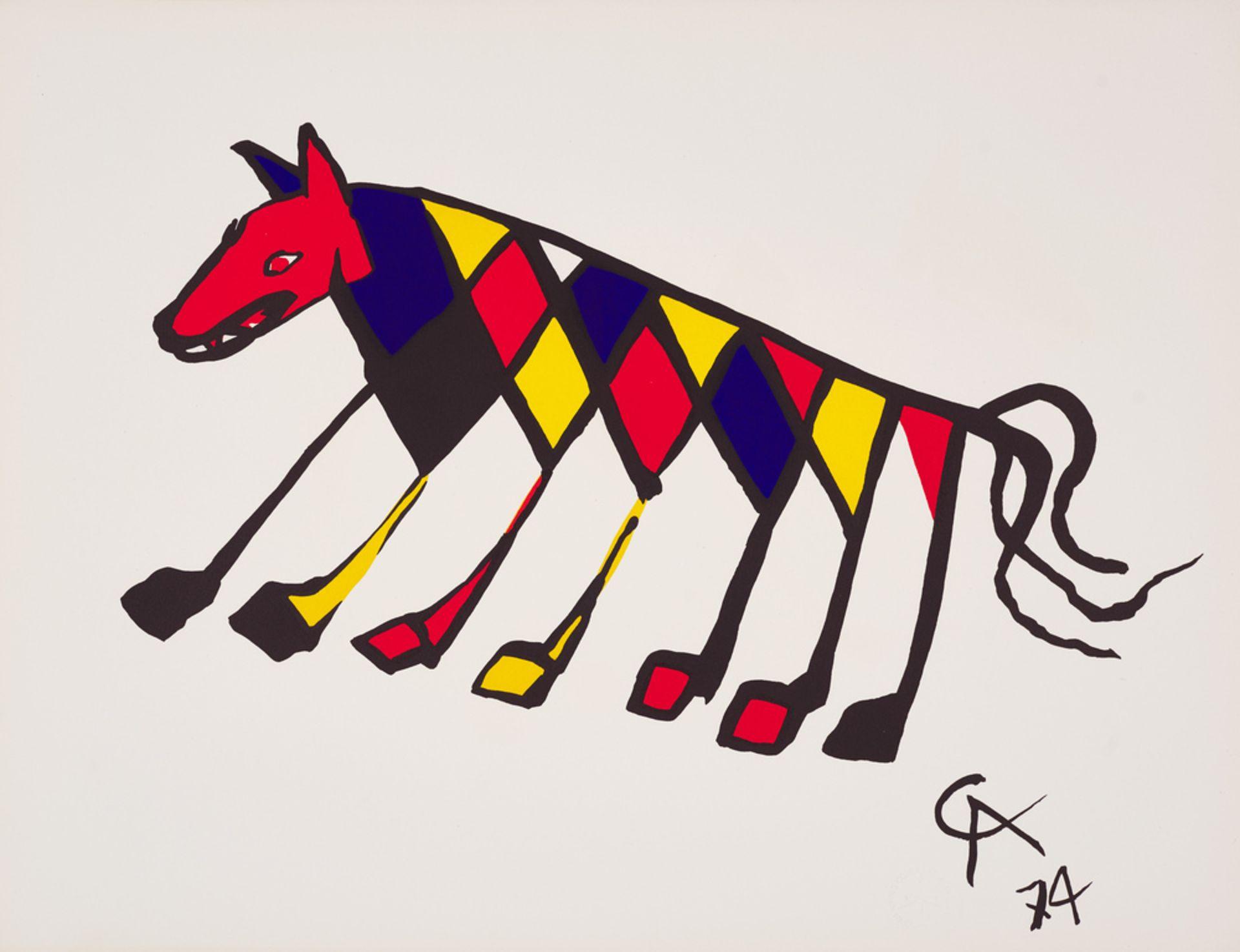 Alexander Calder ,  Lawnton 1898 – 1976 Nowy Jork , Beastie, z cyklu: Braniff Airlines Flying Colors