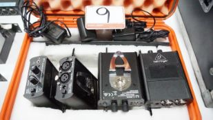 UNITS - BEHRINGER POWERPLAY P1 PERSONAL WIRED IN-EAR MONITOR AMPLIFIERS W/ POWER SUPPLIES IN CASE