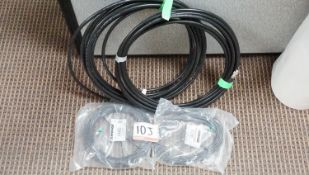 LOT - SHURE WIRELESS MIC ANTENNA CABLES