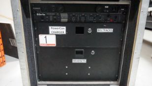 LOT - CLEAR-COM HME DX210 TWO-CHANNEL WIRELESS COM MAIN STATION, C/W: FURMAN PL8-C POWER CONDITIONER