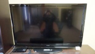 "SHARP AQUOS 60"" (LC-60E69U) HD LCD TV C/W TABLE STAND"