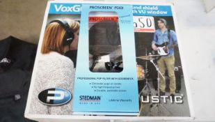 LOT - VOXGUARD UV SOUND SHIELD & STEDMAN PS101 POP FILTER