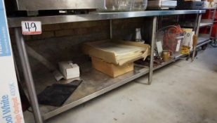 """GENERAL STAINLESS 30"""" X 8' X 31""""H PREP TABLE"""