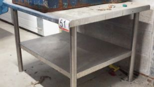 """GENERAL STAINLESS 30"""" X 35.5"""" X 26.5"""" PREP TABLE"""