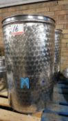 LOT - FRACCHIOLLA 100 LITRE STAINLESS CONTAINERS (2 UNITS)