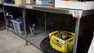 """OMCAN STAINLESS 30"""" X 8' X 34""""H PREP TABLE"""