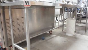 """STAINLESS 25"""" X 94"""" X 36.5""""H PREP TABLE"""