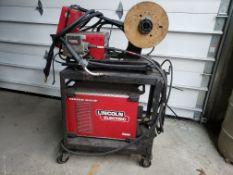 LINCOLN ELECTRIC R350 POWER WAVE WELDER, S/N U1150608288 C/W LINCOLN ELECTRIC 10M POWER FEEDER W/