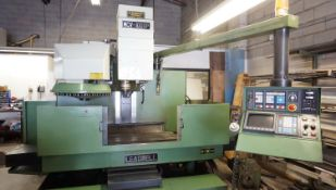 """LEADWELL MCV-100P CNC VERTICAL MACHINING CENTRE W/ APPROX. 19.75"""" X 47"""" T-SLOT TABLE, 24-TOOL"""