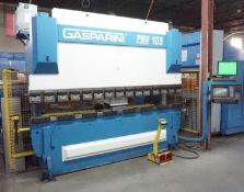 "GASPARINI PBS105/3000 CNC PRESS BRAKE, W/ 4-AXIS BACK GAUGE, 105 TON CAPACITY, 122"" FOLD LENGTH, 7."