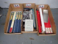 LOT - MGS, EASTMAN, GOLDEN EAGLE ASSTD ELECTRIC KNIFE BLADES W/ (4) BOXES EASTMAN KNIFE ABRASSIVE