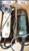 LOT - KOBE CZ-70 & CUSTOM ASSTD ELECTRIC ROTARY CLOTH CUTTERS (2 UNITS)
