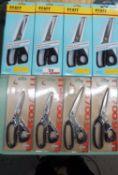 """LOT - NEW SHEARS - (4) PFAFF BS-800 8"""" & (3) TOURO TT8700 DRESS MAKER"""