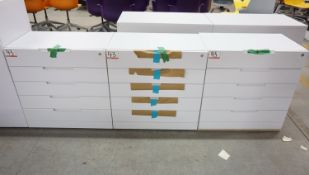"""UNITS - STEELCASE WHITE 30 X 17X 30""""H 5-DR CABINETS"""