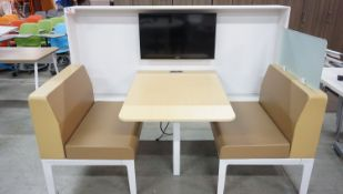 """STEELCASE APPROX 45"""" X 80"""" X 54.5"""" LOUNGE SEATING BOOTH"""