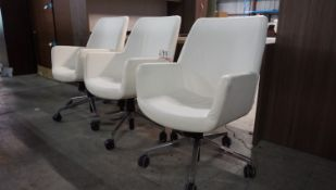 UNITS - STEELCASE COALESSE (IVORY) PNEU AJD OFFICE CHAIRS