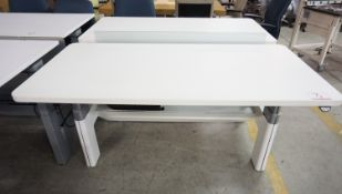 """STEELCASE SERIES 3-5-8 POWERED HEIGHT ADJUSTABLE DOUBLE SIDED WORKSTATIONS 59"""" X 28"""" (120V)"""