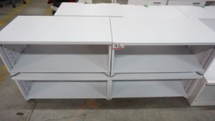 """UNITS - STEELCASE WHITE 36"""" X 15.5"""" X 16"""" STEEL BOOKCASES"""