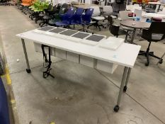 STEELCASE 2' X 6' PORTABLE TABLE