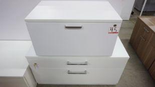 LOT - STEELCASE ASSTD WHITE CABINETS