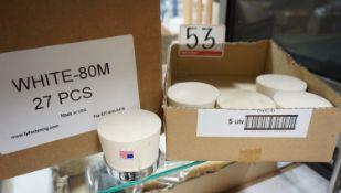 LOT - WHITE 80M FLOORING MALLET TIPS (32 PCS)