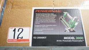POWERNAIL MODEL 2000 20GA PNEU POWER FLOOR NAILER W/ CASE