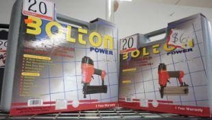 UNITS - BOLTON BPN16, BPN18 PNEUMATIC 16 & 18-GAUGE BRAD NAILERS