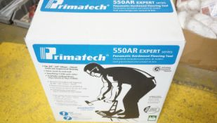 PRIMATECH 550AR EXPERT SERIES PNEUMATIC HARDWOOD FLOORING NAILER C/W (6) BOTTLES OF PRIMATECH OIL